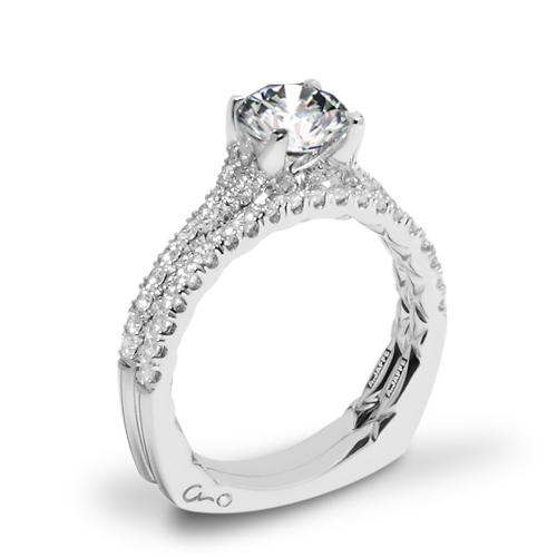 A. Jaffe MES742QB Classics Diamond Wedding Set