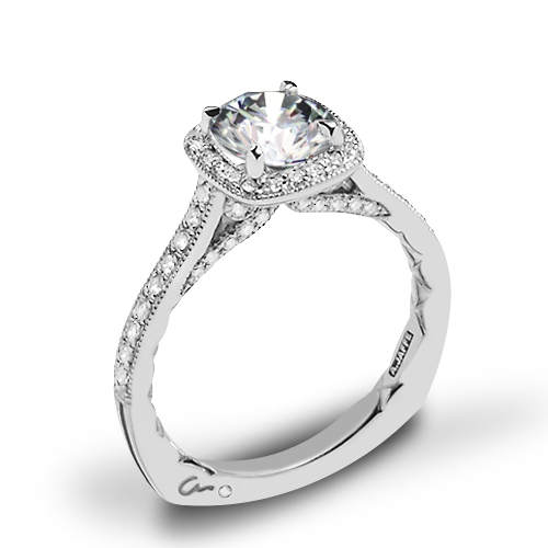 A. Jaffe MES754Q Seasons of Love Halo Diamond Engagement Ring