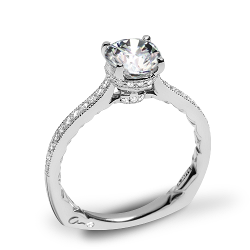 A. Jaffe MES771Q Art Deco Diamond Engagement Ring