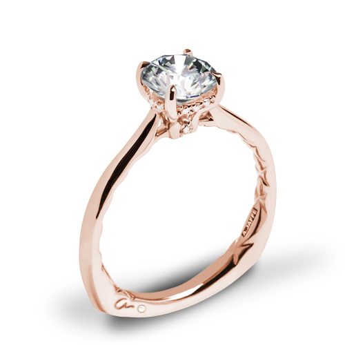A. Jaffe MES837Q Solitaire Engagement Ring