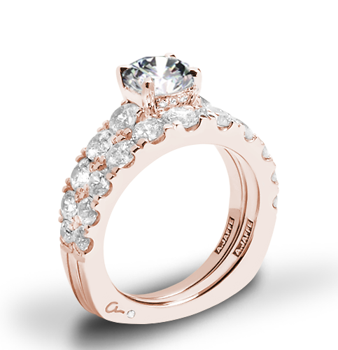 A. Jaffe MES870 Metropolitan Diamond Wedding Set