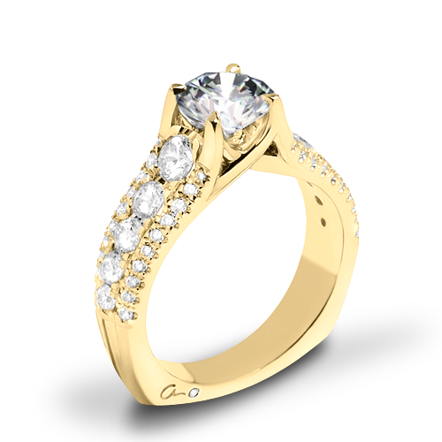 A. Jaffe MES898 Diamond Engagement Ring