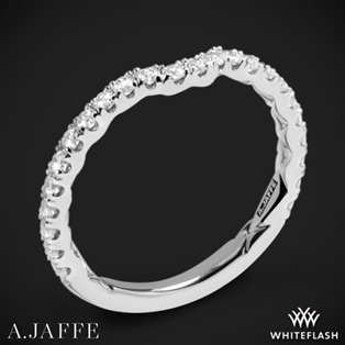 A. Jaffe MR1851Q Art Deco Diamond Wedding Ring