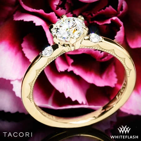 Tacori 56-2RD Sculpted Crescent Classic 3 Stone Engagement Ring