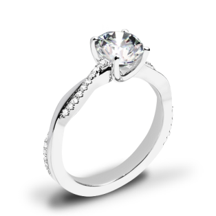Valoria Flora Twist Diamond Engagement Ring