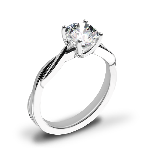 Valoria Flora Twist Solitaire Engagement Ring