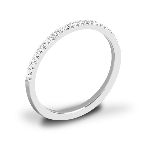 Valoria Micropave Matching Diamond Wedding Ring