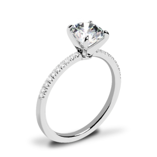 Valoria Micropave Diamond Engagement Ring