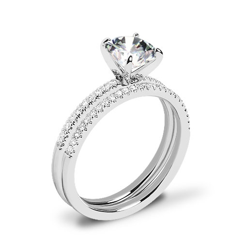 Valoria Micropave Diamond Wedding Set