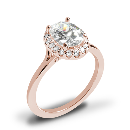 Ritani 1OZ1332 Halo Solitaire Engagement Ring