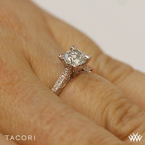 Tacori Simply Tacori Pave plete Diamond Engagement Ring