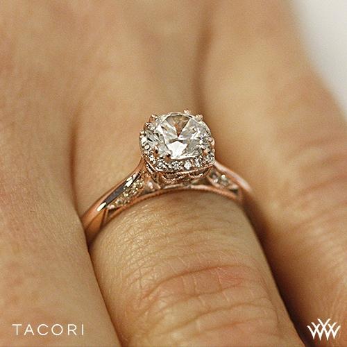 Tacori 2620rdsm Dantela Crown Solitaire Engagement Ring 2718