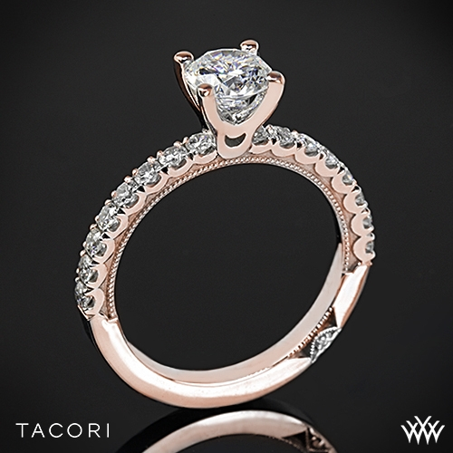 Tacori 33-2RD Clean Crescent Diamond Engagement Ring