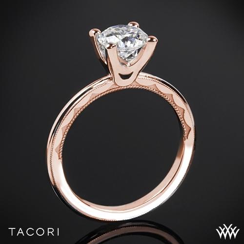 Tacori 40-15RD Sculpted Crescent Millgrain Solitaire Engagement Ring