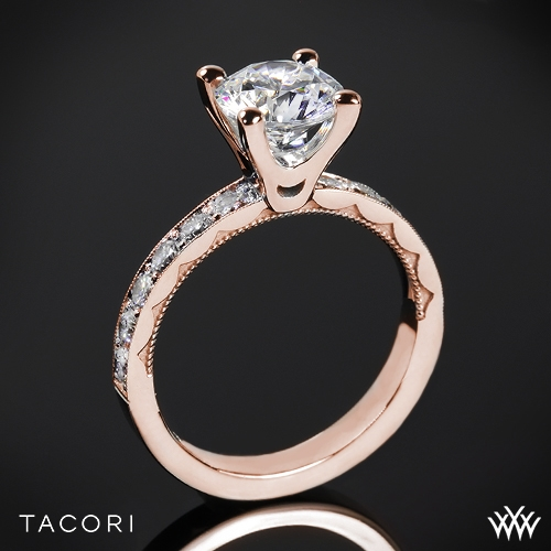 Tacori 41-3RD Sculpted Crescent Lace Diamond Engagement Ring