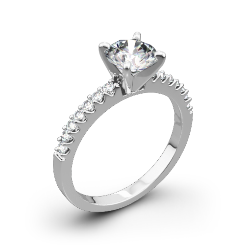 Valoria Petite Shared Prong Diamond Engagement Ring