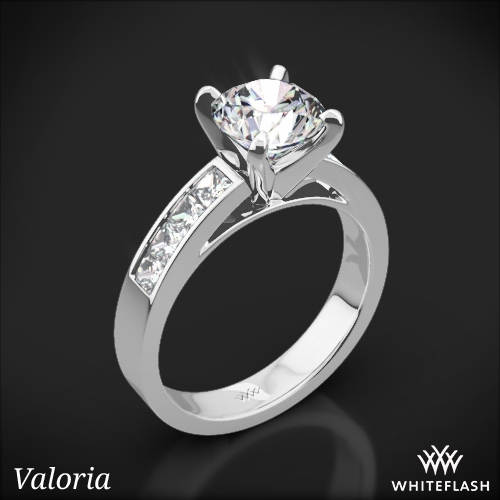 Princess Channel-Set Diamond Engagement Ring