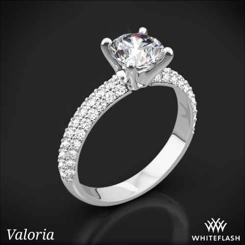 Rounded Pave Diamond Engagement Ring