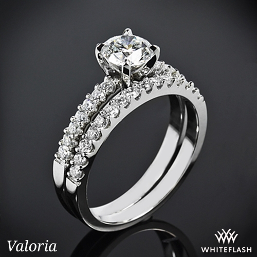 """Petite Open Cathedral"" Diamond Wedding Set"