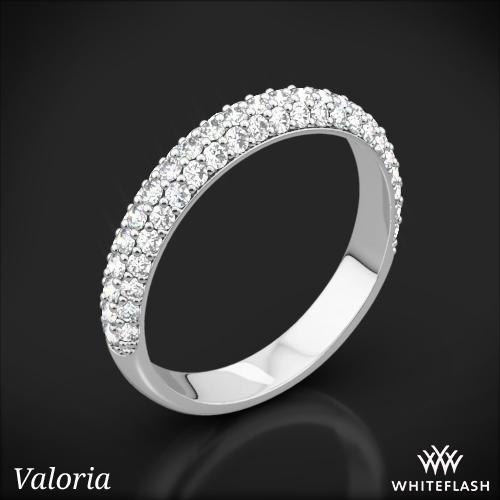 Rounded Pave Diamond Wedding Ring