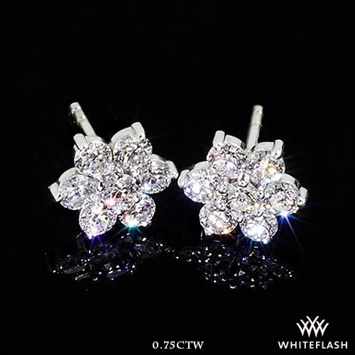 Flower Cluster Diamond Earrings