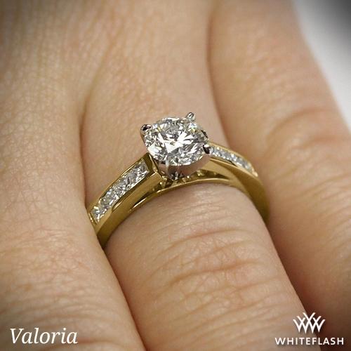 Channel Set Diamond Engagement Ring 1082