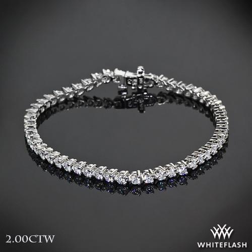 Three-Prong Diamond Tennis Bracelet