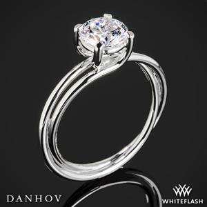 Danhov ZE139 Eleganza Single Shank Solitaire Engagement Ring