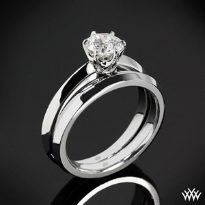 'Classic Knife-Edge' Solitaire Wedding Set