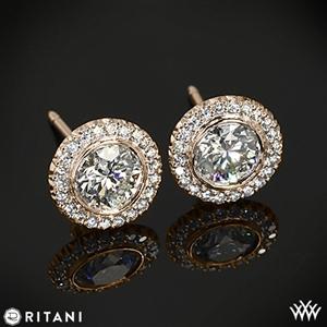 Ritani 5RZ3700 Bella Vita Halo Diamond Earrings