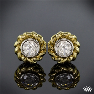 Braid Diamond Earrings