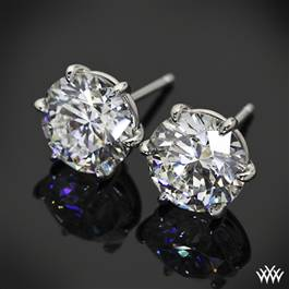 "6 Prong ""Martini"" Earring Settings"