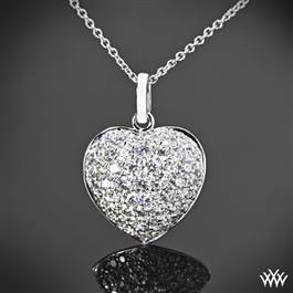"""Domed Heart Pave"" Diamond Pendant"