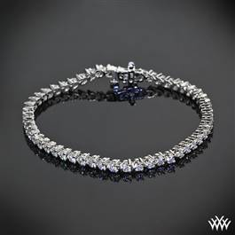 """Three-Prong"" Diamond Tennis Bracelet"