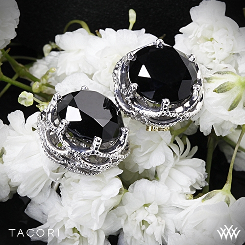Tacori SE10519 Black Lightning Onyx Earrings
