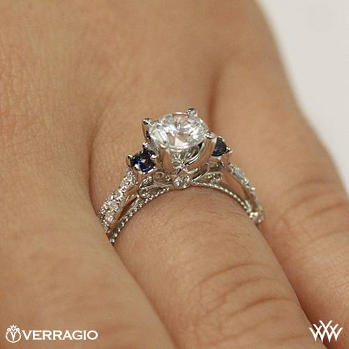 Verragio Cl Dl 129r Twisted Sapphire 3 Stone Engagement